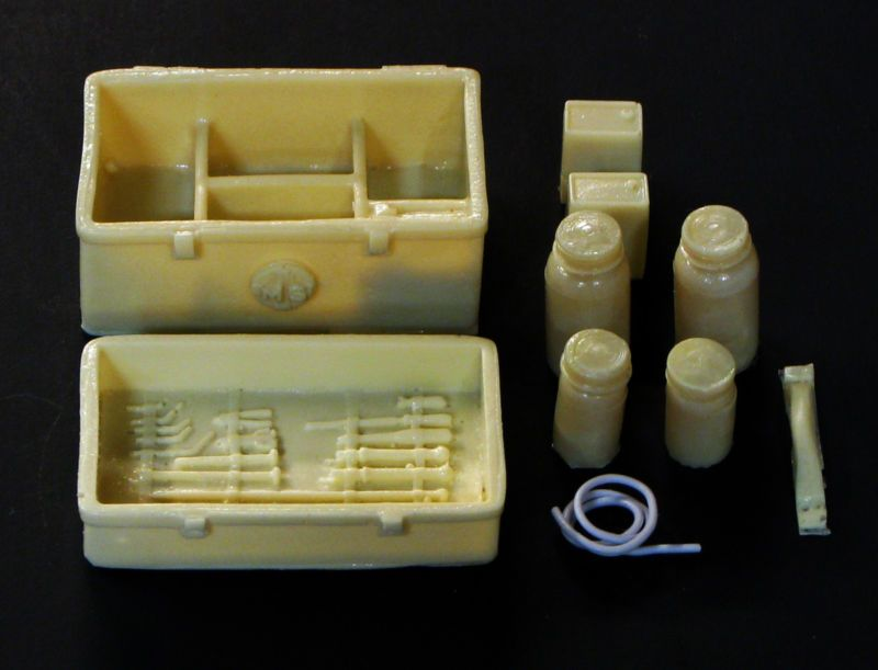 25 G Scale Model Hearse Funeral Home Embalming Kit