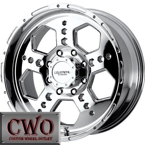 18 Chrome LM Gatlin Wheels Rim 5x127 5 Lug Chevy GMC C1500 Jeep