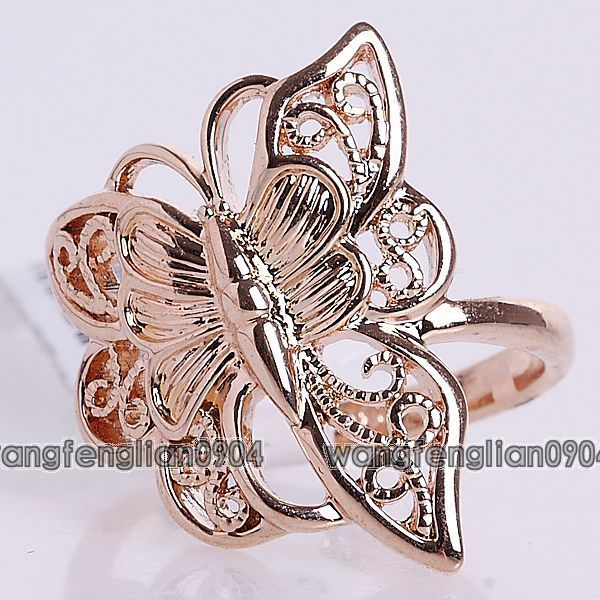 18K Gold Plated Butterfly  Ring 93689