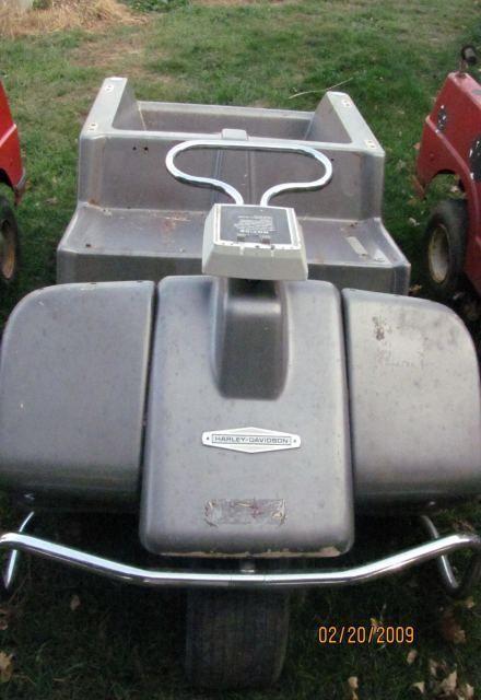 Harley Davidson Golf Cart Gas Three Wheel Grey 3B12047H0