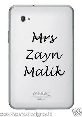 1D MRS ZAYN MALIK ONE DIRECTION LAPTOP/IPAD/TA BLET STICKER IN 20