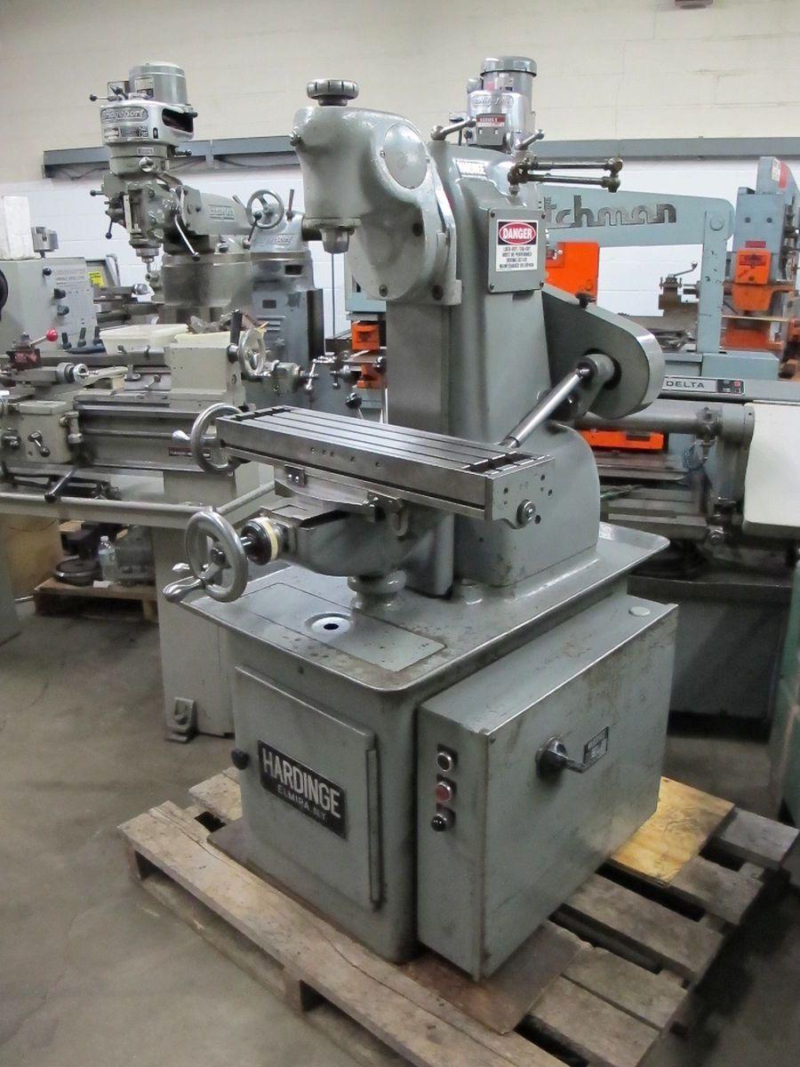 Hardinge TM UM Vertical Horizontal Milling Machine