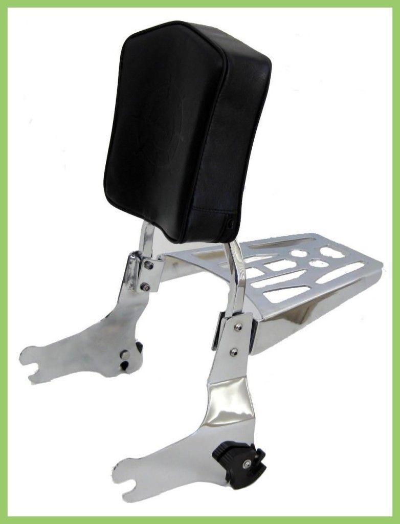 Harley Davidson Touring Detachable Sissy Bar Backrest Pad Luggage Rack