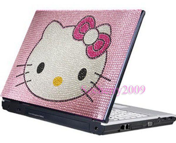 Pink Hello Kitty Notebook Laptop Bling Sticker Skin