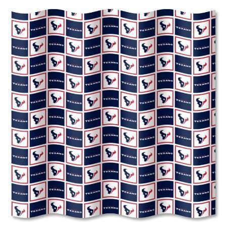 Houston Texans NFL Fabric Shower Curtain 72x72