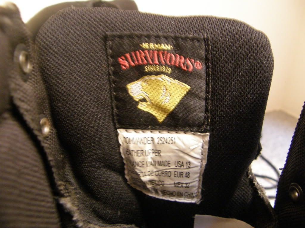 Herman Survivors Commander Boots Size 13, M, 10 Tall Leathe and