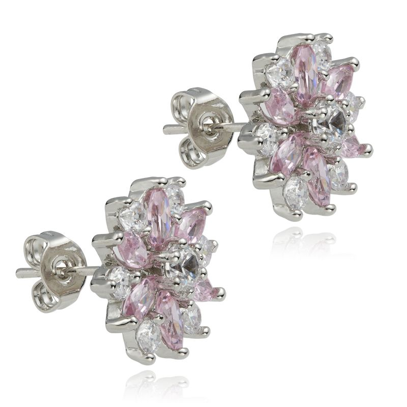 HOT FASHION JEWELRY PINK SAPPHIRE MARQUISE CUT 18K WHITE GOLD PLATED
