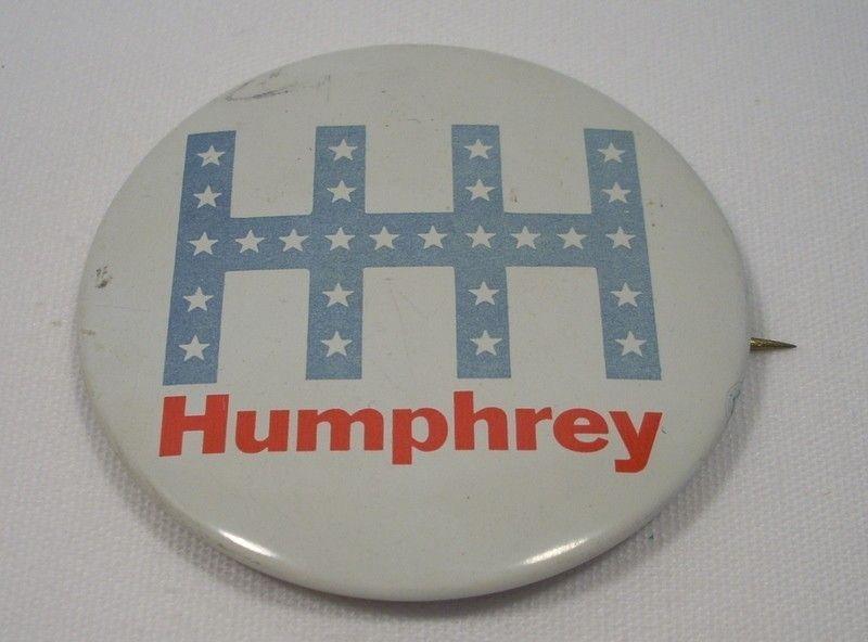 Vintage Hubert Humphrey Political Campaign Button Pin