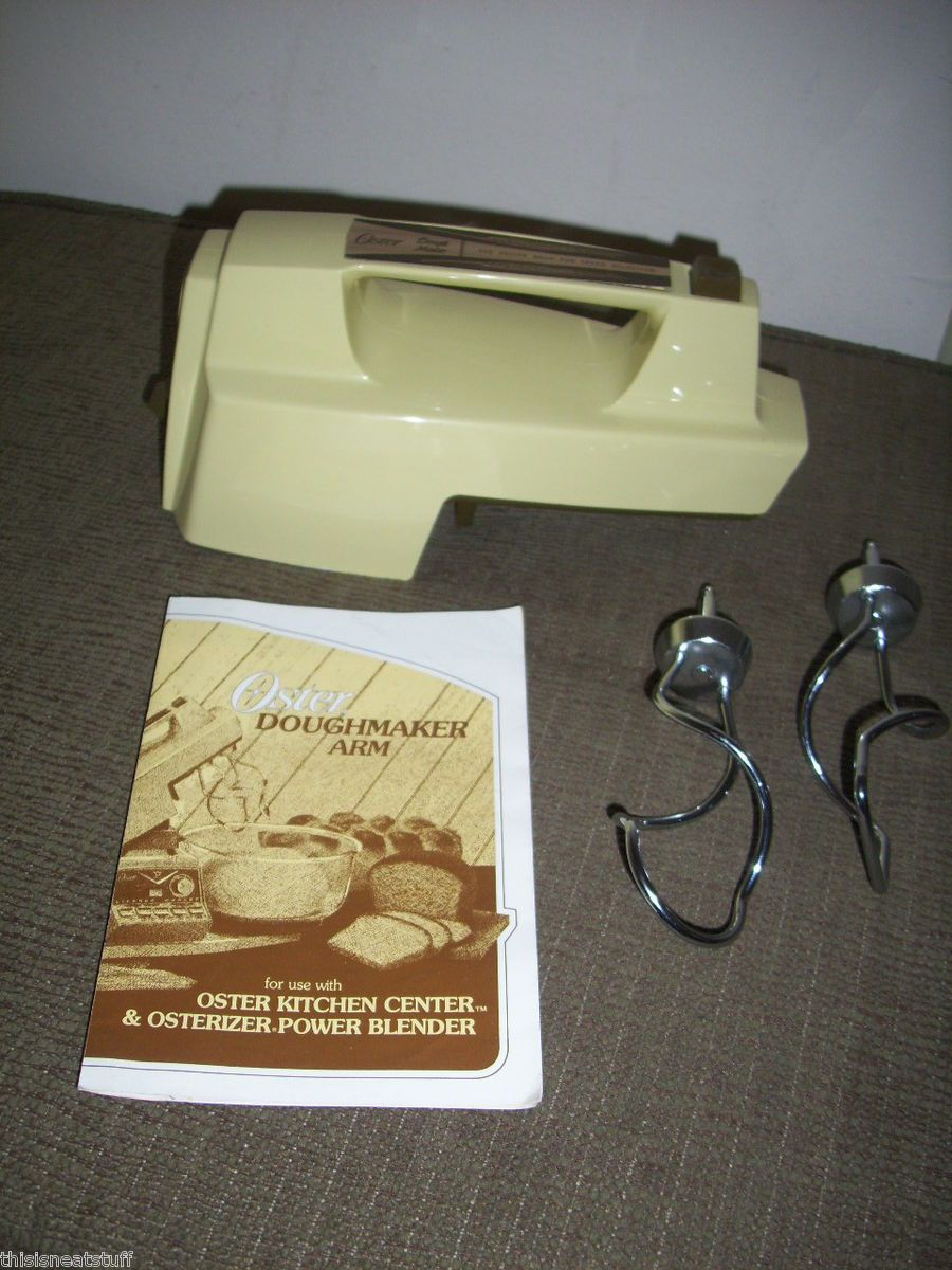 Oster Kitchen Center Doughmaker Arm w Dough Hooks Cookbook