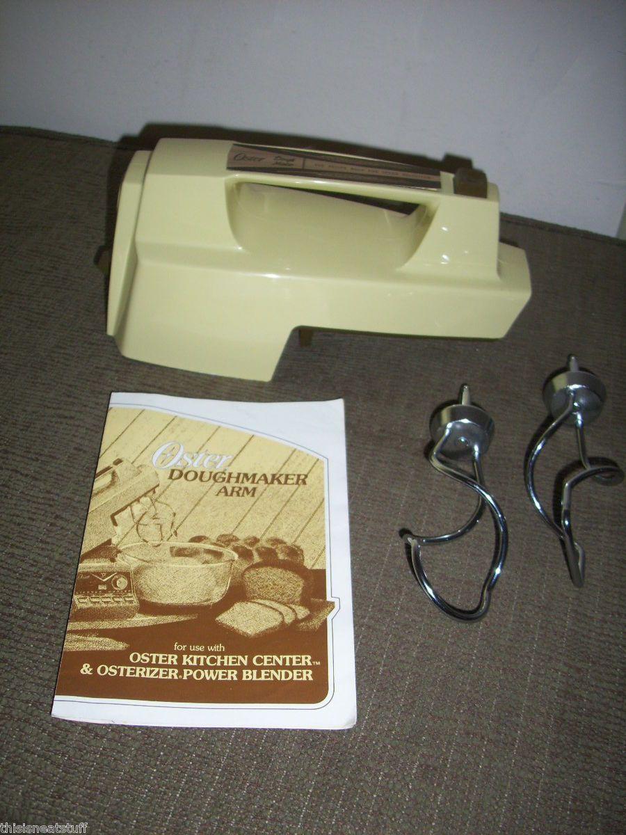 Oster Kitchen Center Doughmaker Arm w Dough Hooks Cookbook