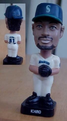 Ichiro Suzuki Fotoball Bobble Head 2002 Seattle Mariners Post Cereal