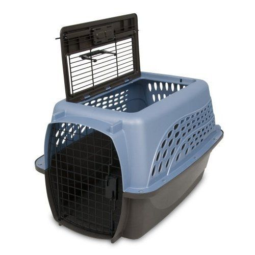Petmate Two Door 24 inch Pet Kennel Dog Cat Cage Carrier Travel Free
