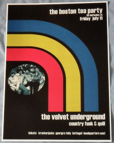 The Velvet Underground Lou Reed Concert Poster Boston Tea Party 1969