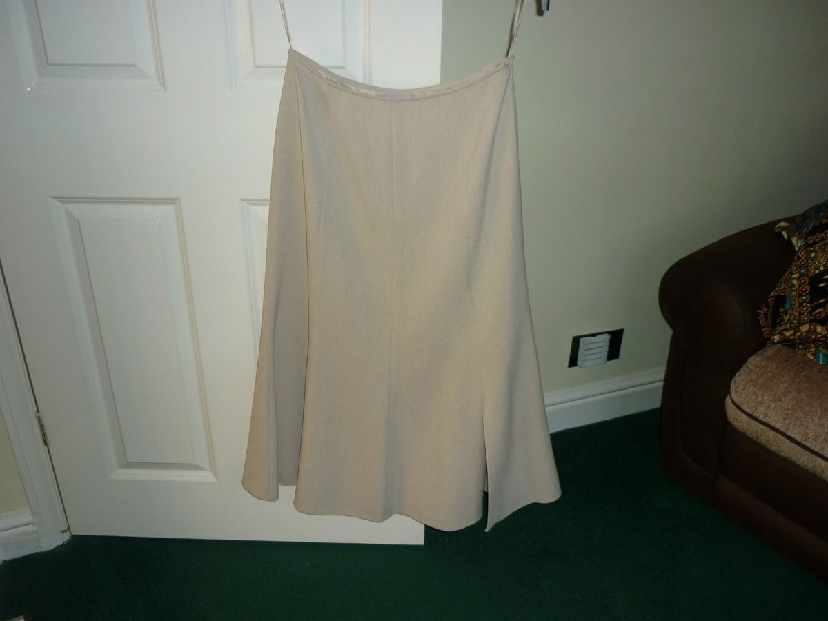 Jacques Vert light beige long skirt size 10 UK 38 EU unwanted gift