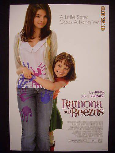 Ramona Beezus Movie Poster Selena Gomez Joey King