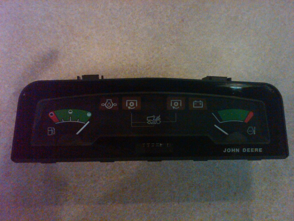 John Deere 425, 445, 455 Instrument Cluster AM115468, Dash Gage Fuel