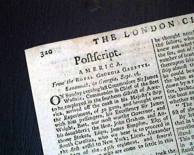 1779 Newspaper John Paul Jones Battle of Stono Ferry Revolutionary War Carolinas