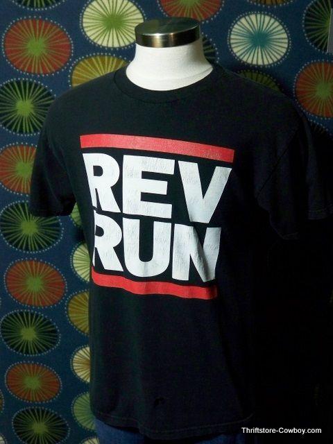Rev Run Shirt Run DMC Joseph Simmons Rap Hip Hop Large