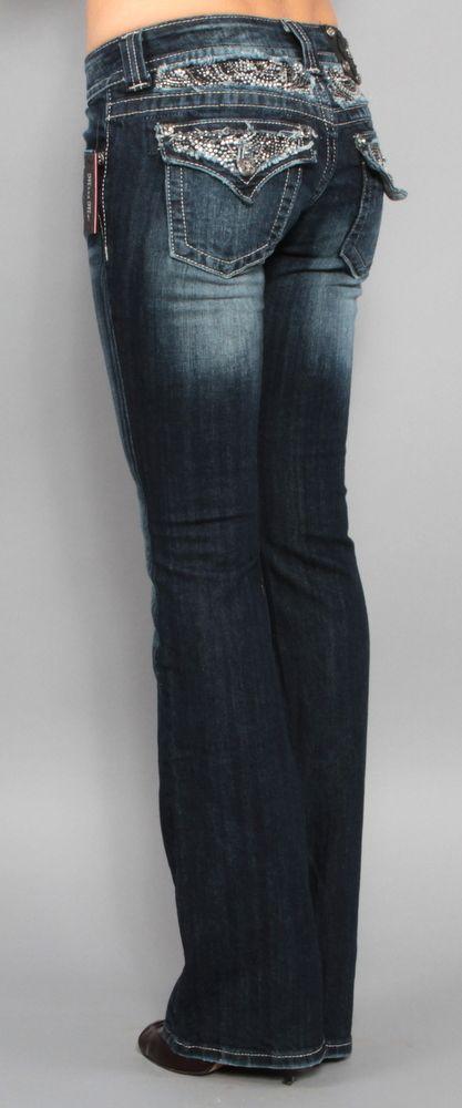 Womens Miss Me Jeans Northern Lights JP5124B10 Boot Cut Rhinestones 30