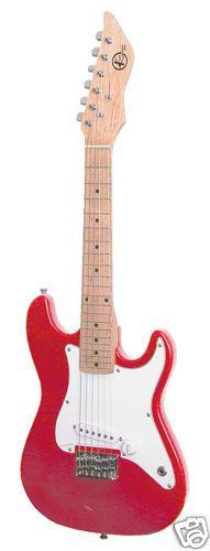 New Kay Mini Electric Guitar 31 Long Metallic Red