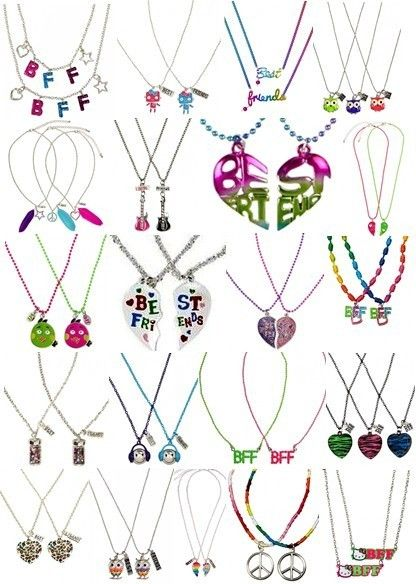 BFF Best Friends 2pc Necklace Set Heart Angry Birds More New