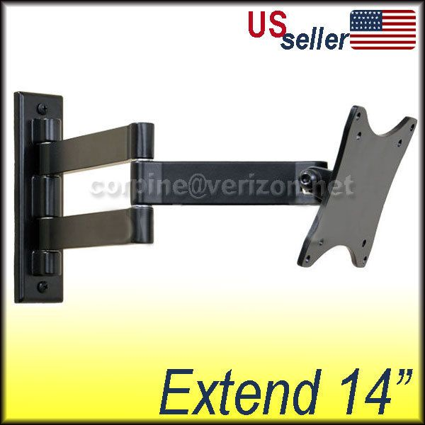 lcd monitor flat panel tv tilt swing arm wall mount b03