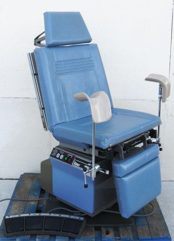 Power Exam Table Chair Swivel Base Leg Holders Knee Crutches