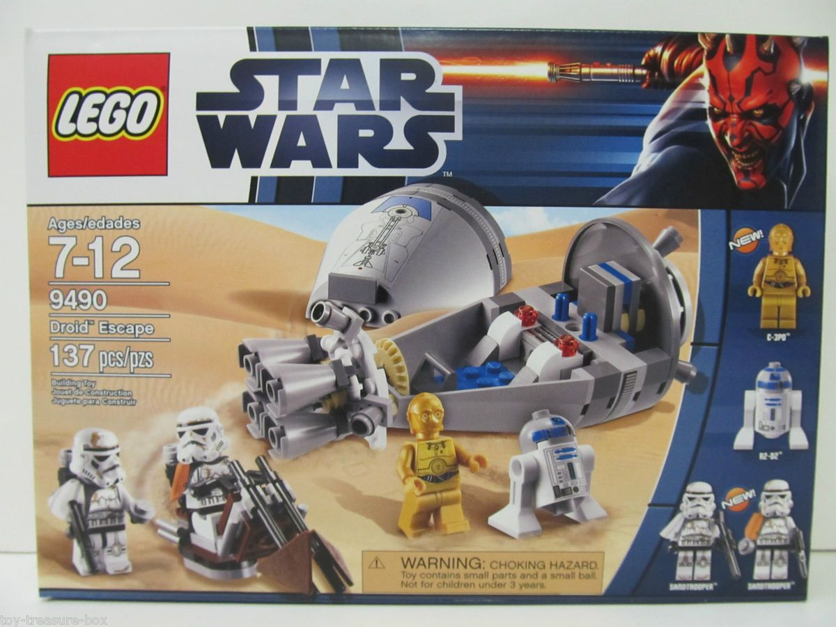 Star Wars Droid Escape Lego Set Model 9490 Ages 7 12 137 Piece Set