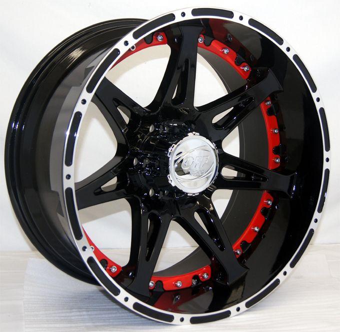 Lonestar Offroad Super Deep Dish Black Wheels 20x10 fits Chevy GMC 6x5