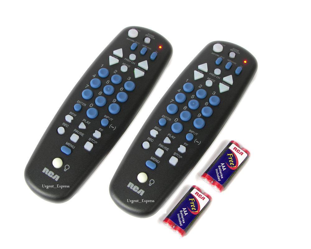 Two RCA Universal TV DVD Digital Converter Box Remote for Magnavox