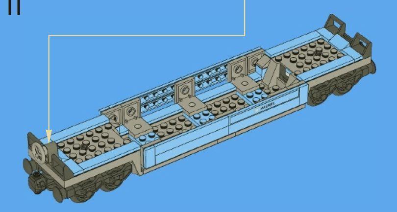 Lego Maersk Train Flatbed Wagon 10219 New Intrntnl Shipping