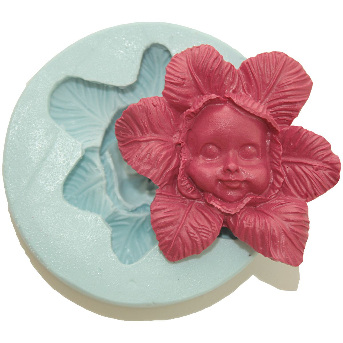 3D Silicone Molds Cake Baby Face Fondant Gumpaste Supply M4755