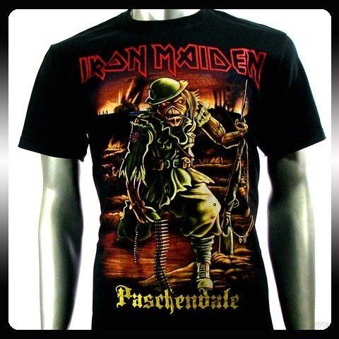 Iron Maiden Heavy Metal Rock Punk T Shirt Sz L Biker Rider Vtg