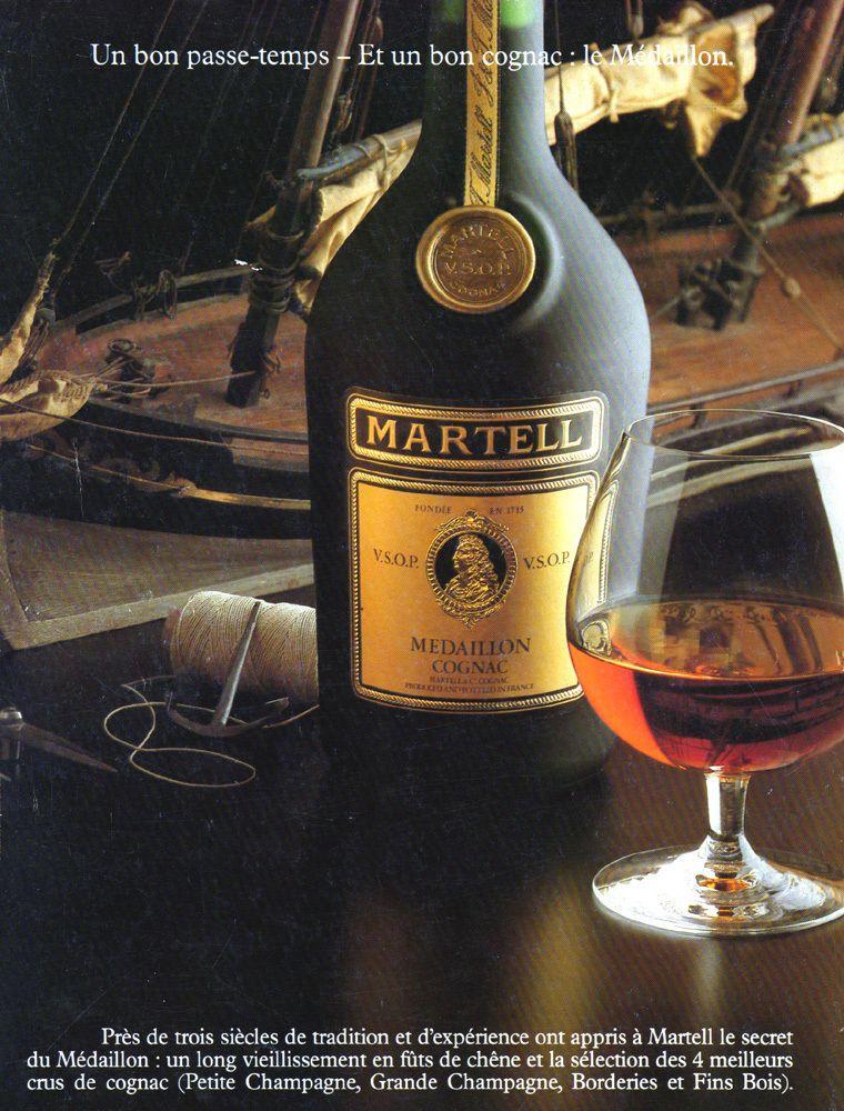 Martell VSOP Cognac Sailing Vintage 1980 Print Ad