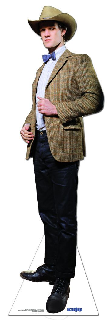 11th Doctor Dr Who Matt Smith Stetson Hat Lsize Cardboard Cutout