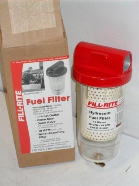 Fill Rite Fuel Filter 18GPM Max F1810HC1
