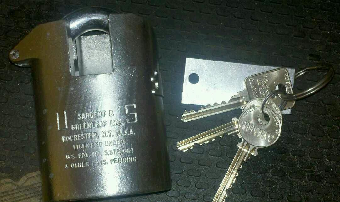 Greenleaf 831A High Security Padlock Military Medeco Collector Lock