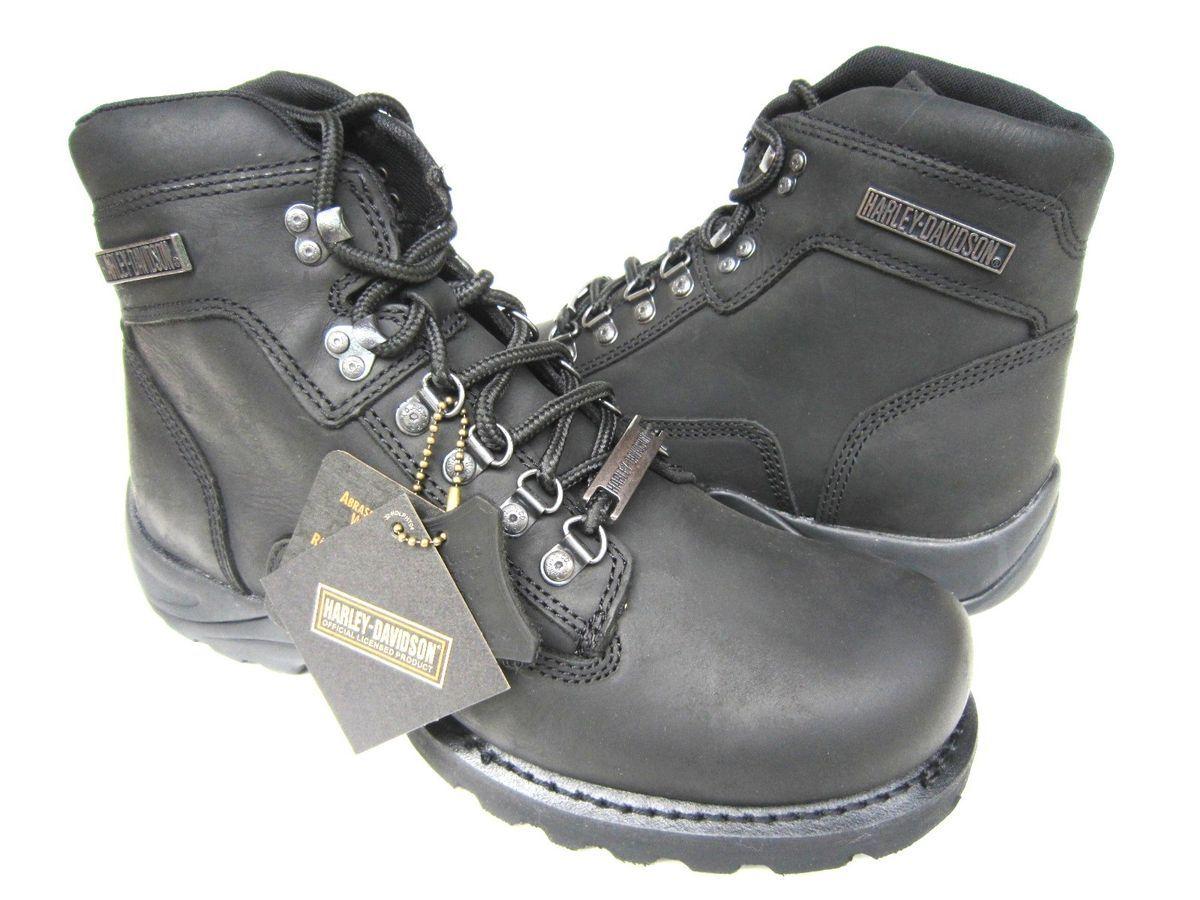 Harley Davidson Virgo Black Leather Mens Motorcycle Boots