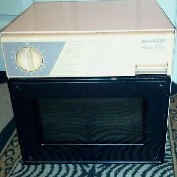 Sharp Half Pint Portable Microwave Oven Dorm Camping Boat RV PINK