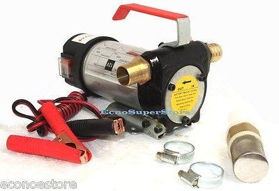 12v Diesel Fuel Oil Transfer Pump 11 GPM Direct Current 16Ft