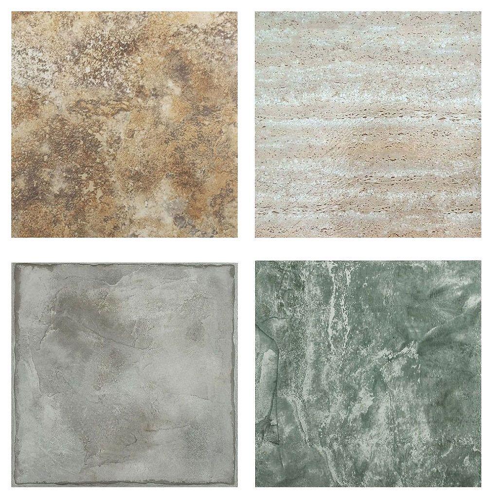 Marble Granite Slate Stone Self Stick Adhesive Vinyl Floor Tile 40