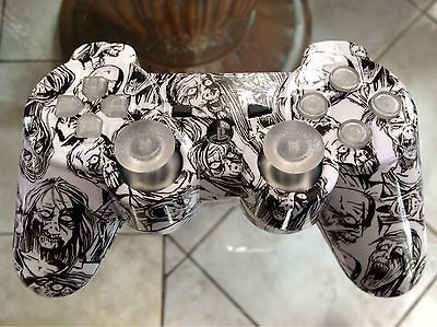 MODE ADJUSTABLE RAPID FIRE MODDED PS3 CONTROLLER (WHITE ZOMBIES CANDY