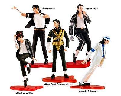 of 5 pcs Figure Box Set Michael Jackson Dolls Billie Jean New In Box