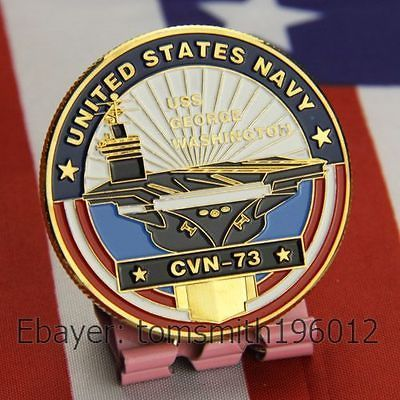 NAVY / USS George Washington / CVN 73 / Military Challenge Coin