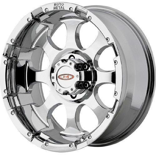 16 inch Moto Metal 955 chrome wheels rims 8x6.5 8x165.1