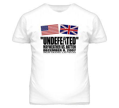 Ricky Hatton Floyd Mayweather Boxing Promo Undefeated T Shirt