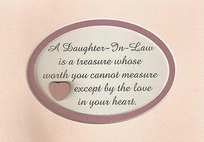 DAUGHTERs IN LAW Treasure LOVE Heart WORTH Measure FAMILY verses poems