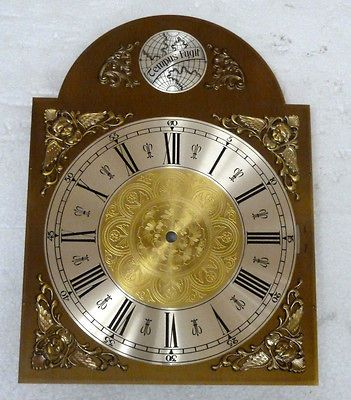 GRANDFATHER CLOCK DIAL WITH ROMAN NUMERALS FOR URGOS FIVE TUBE