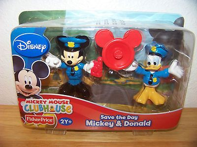 Fisher Price Mickey Mouse Clubhouse Save the Day Mickey & Donald NIP