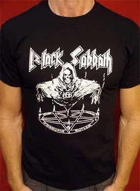 Black Sabbath t shirt vtg tour ozzy osbourne nazareth motorhead iron